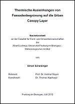 Stadtklima Stuttgart Bachelorarbeit Simon Scherzinger 2012